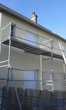 Silicone render with weber product