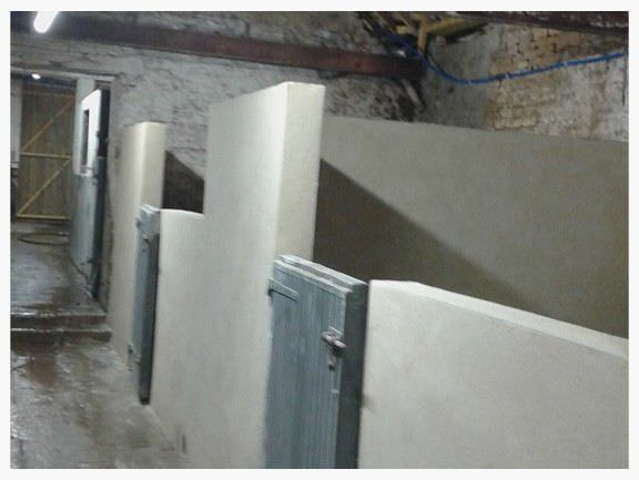Picture of rendered stable walls